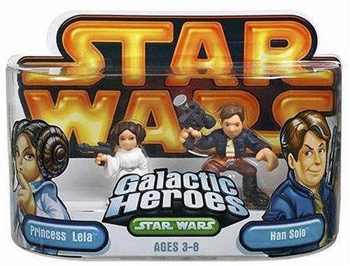 Star Wars Galactic Heroes Episode 2 Junior Figure 2 Pack Han Solo & Leia