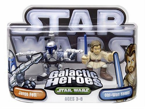 Star Wars Galactic Heroes Episode 2  Junior Figure 2 Pack Jango &   Obi-Wan
