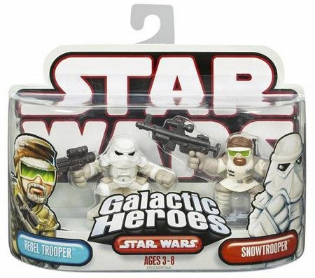 Star Wars Galactic Heroes Figure 2 Pack: Snowtrooper & Rebel Trooper
