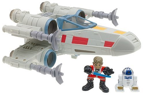 Star Wars Galactic Heroes Luke Skywalker and R2D2 and X-Wing Fighter