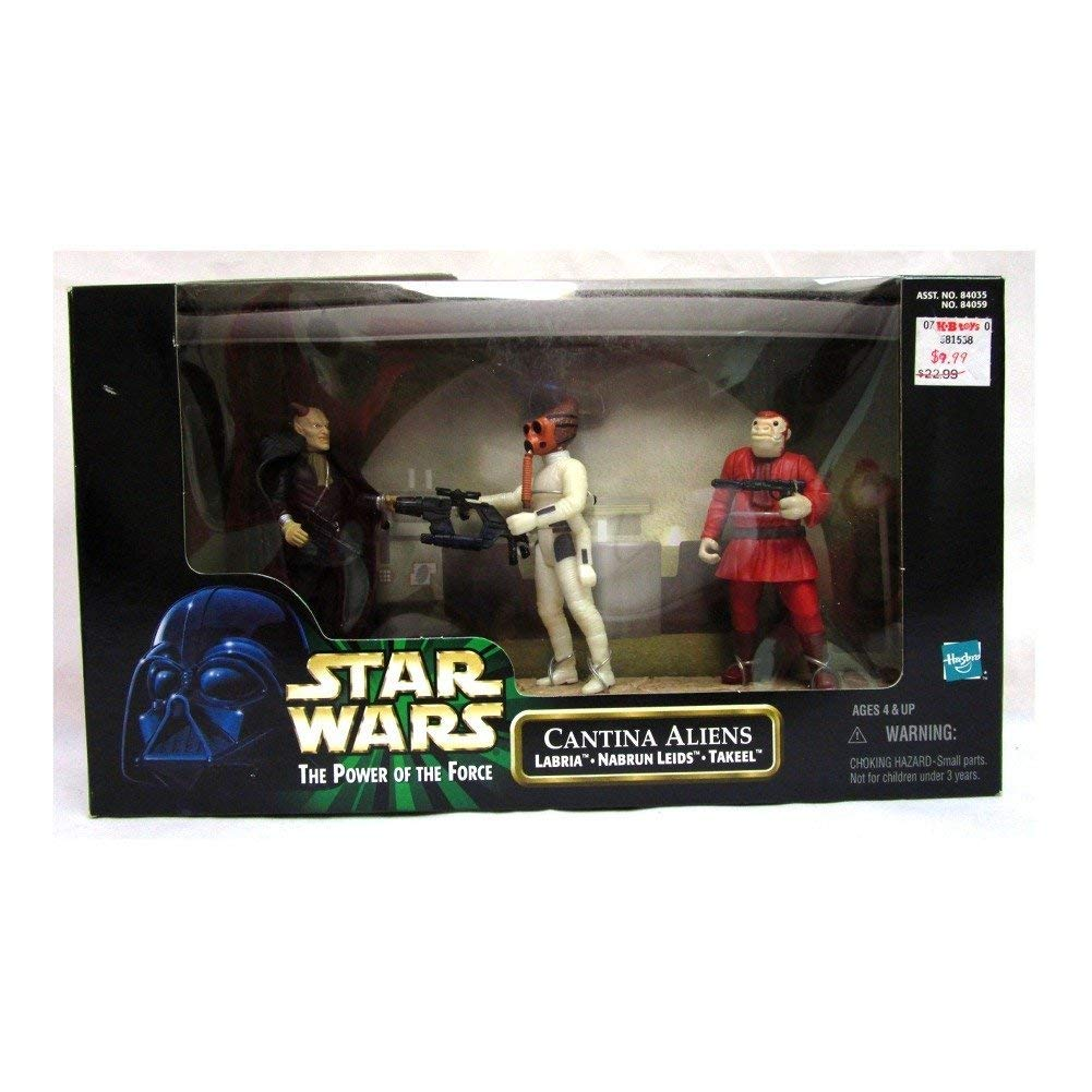 Star Wars Power of the Force Cantina Aliens Labria, Nabrun Leids, Takee