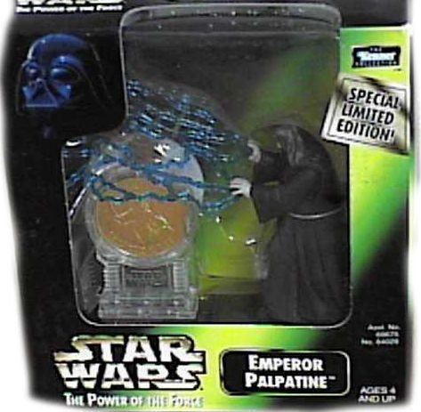 Star Wars Power of the Force Emperor Palpatine 3 3/4 Inch Action Figure with Millennium Minted Coin