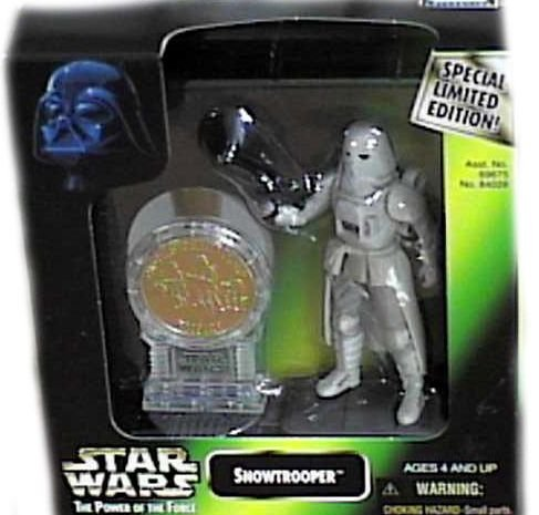 Star Wars: Power of the Force Millenium Coin Edition Snowtrooper Action Figure