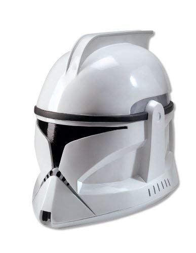 Rubie's Costume Men's Star Wars Deluxe Injection Molded Adult 2-Piece Clone Trooper Mask, Multicolor, One Size
