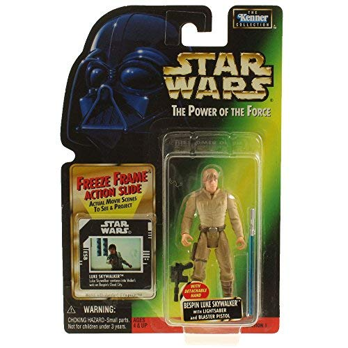 Star Wars, The Power of the Force Freeze Frame, Bespin Luke Skywalker Action Figure, 3.75 Inches