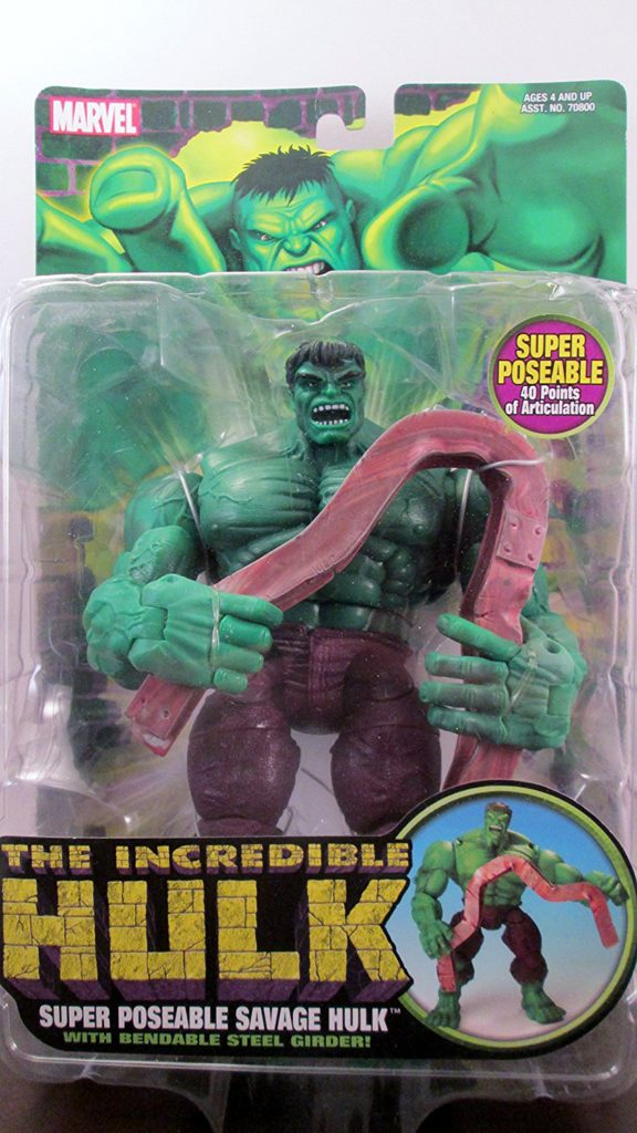 The Incredible Hulk: Super Poseable Savage Hulk Figure with Bendable Steel Girder