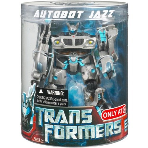 Transformers Movie Deluxe Exclusive Figure in Canister Autobot Jazz