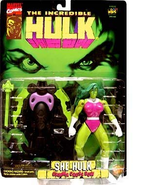 Vintage 1996 The Incredible Hulk She-Hulk 6 1/4 Inch Action Figure