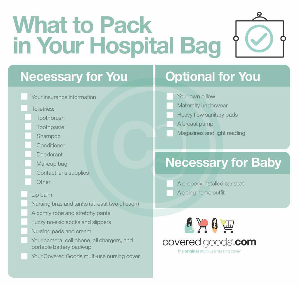 what to pack in your hospital bag a covered goods guide covered