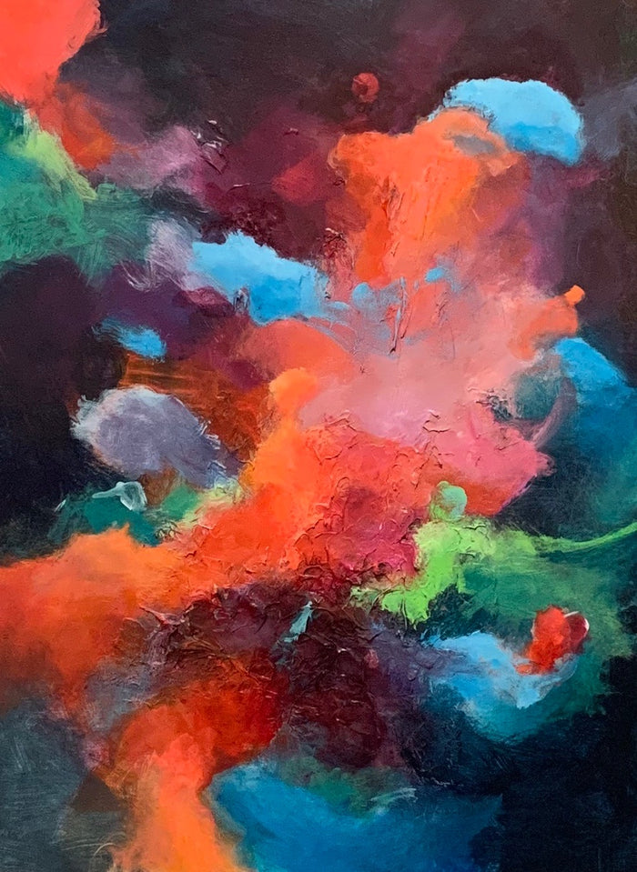 Tossing Nebula, 40 x 30 in