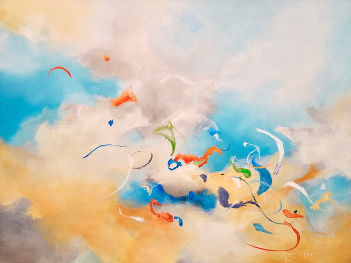Blooming Sky by Ginger Fox, 36 x 48 in