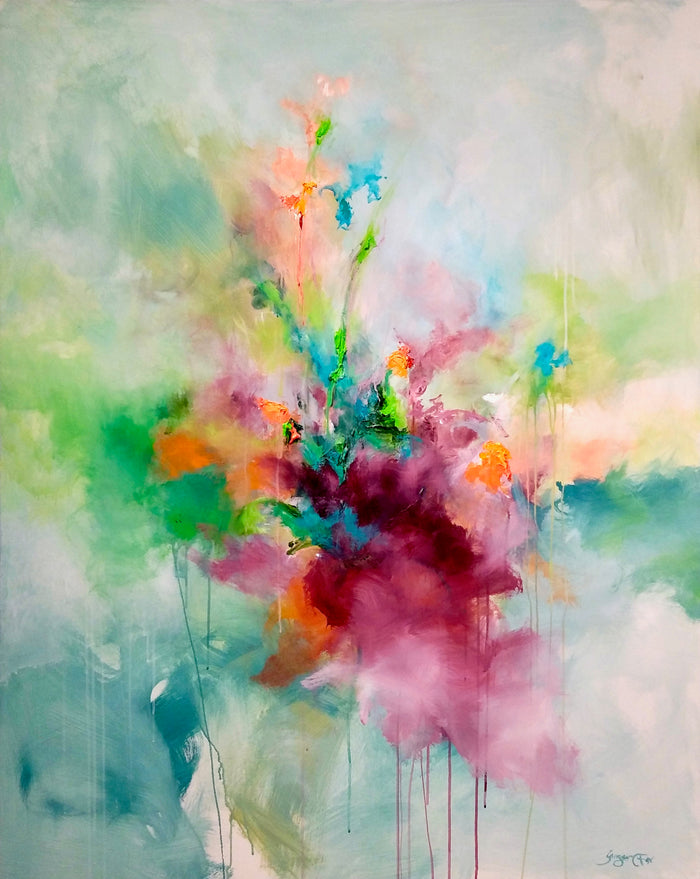 Bright and Green by Ginger Fox, 60 x 48 in