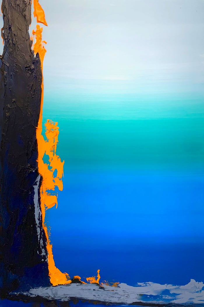 Deeply Blue by Ginger Fox, 60 x 40 in