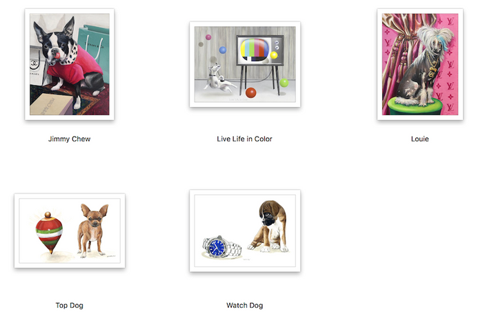 Surrealism Dog Prints