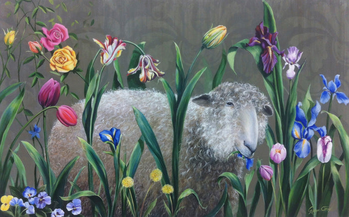 Ewe Are What Ewe Eat, 30 x 48 in.