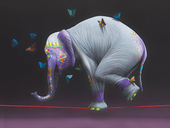 Crow Pose by Ginger Fox, 48x60 in.