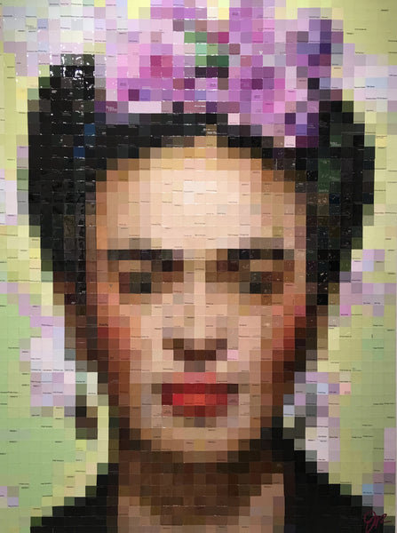 Frida with Lavender Begonias, 36x48 Original