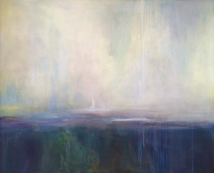 Blue Dusk by Ginger Fox, 48 x 60 in