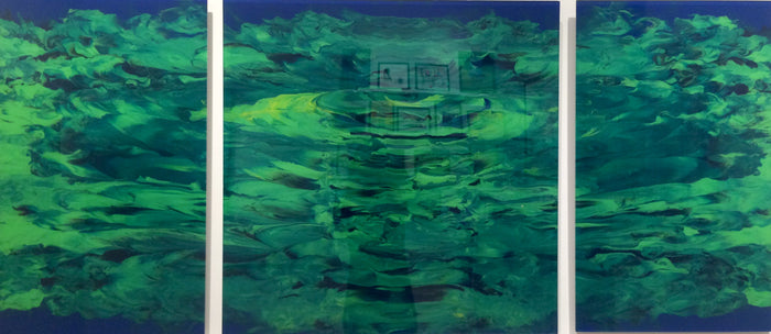 Green with Blue by Juli Price, 30 x 66 in