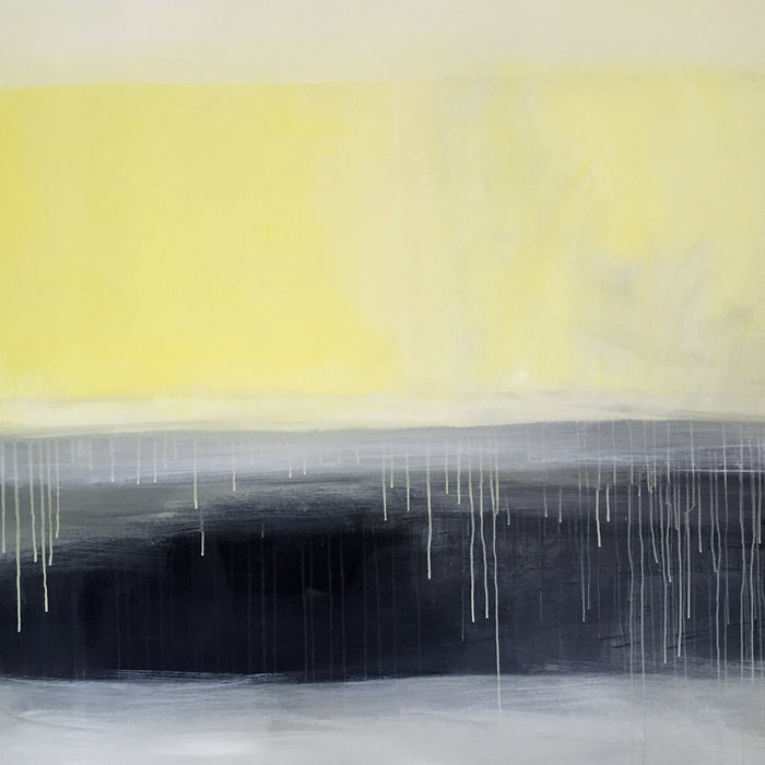 Yellow Horizon by Ginger Fox, 48 x 60 in