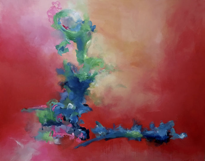 Feather Trumpet by Ginger Fox, 40 x 50 in