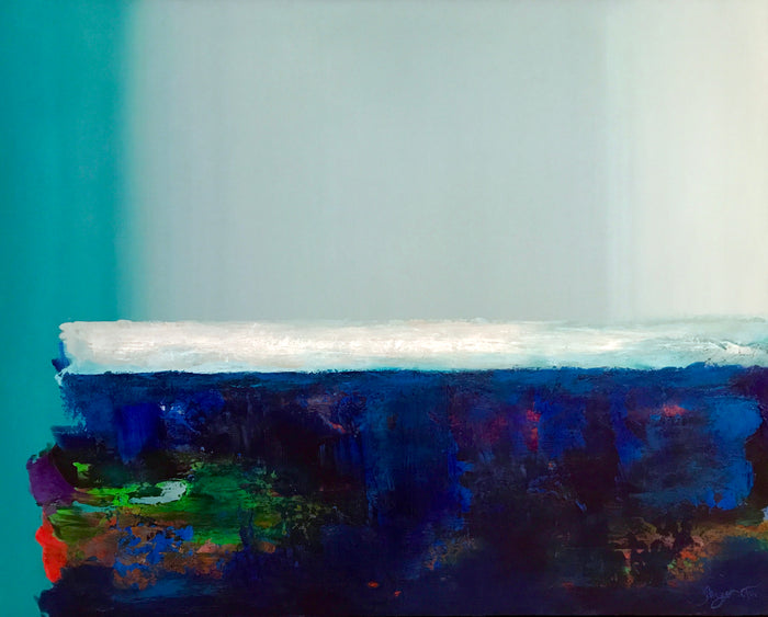 Blue Horizon by Ginger Fox, 40 x 50 in
