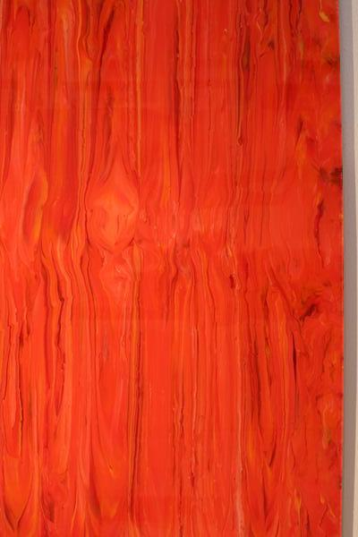 Orange Rays by Juli Price, 36 x 60 in
