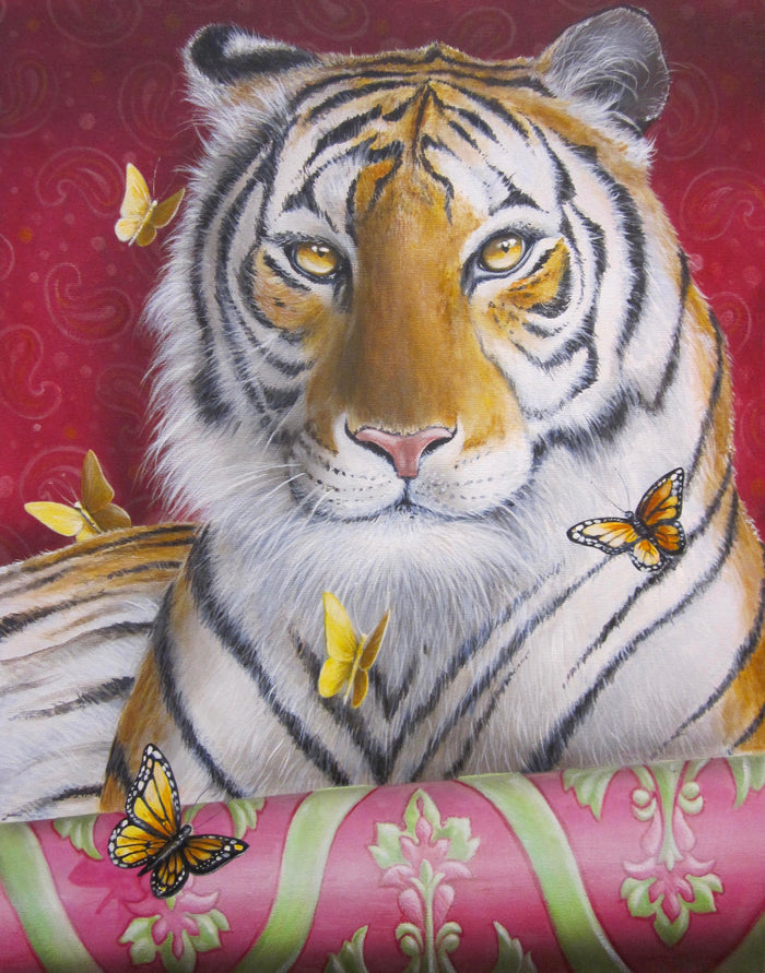 Tiger in My Living Room by Ginger Fox, 40 x 30 in.