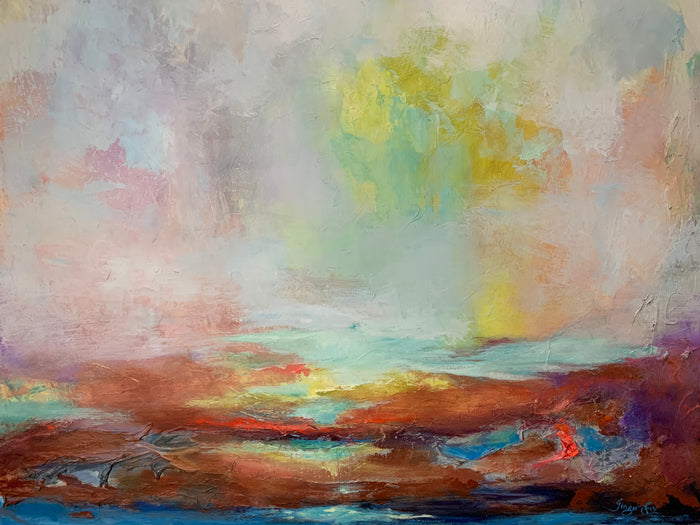 Water Finds a Way by Ginger Fox, 60 x 48 in