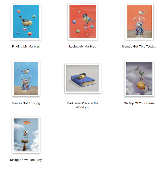Surrealism Birds First Set Prints