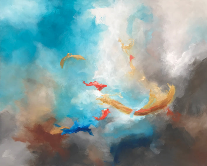Koi by Ginger Fox, 48 x 60 in