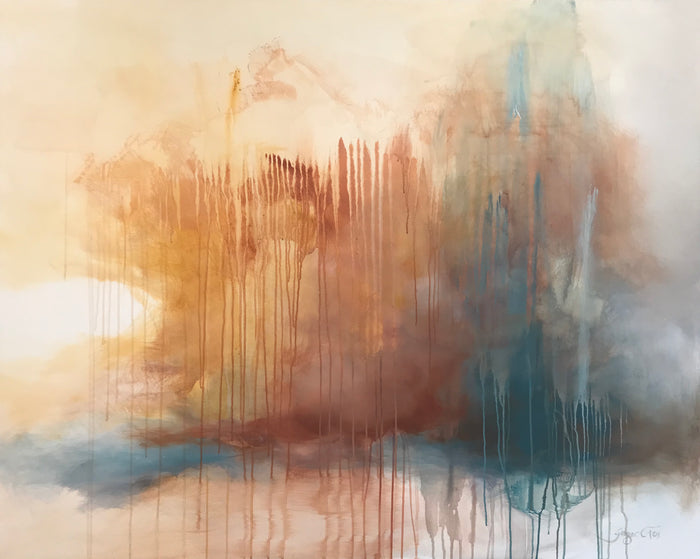 Seeing Sienna by Ginger Fox, 48 x 60 in