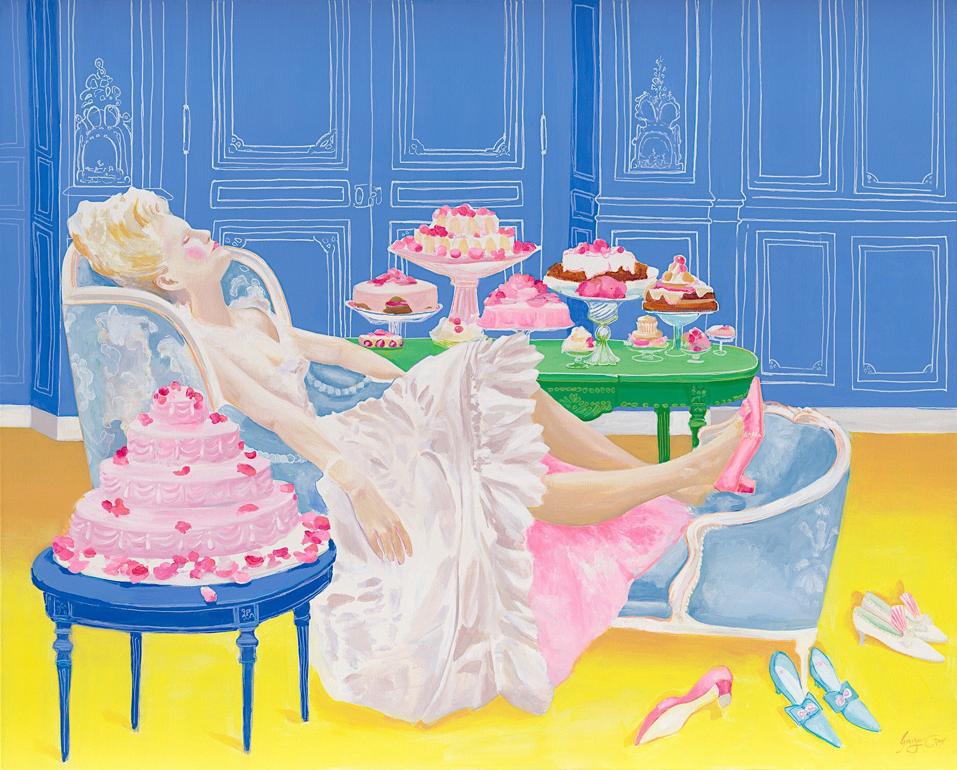 "Let Them Eat Cake, 48""x60"", By Ginger Fox"