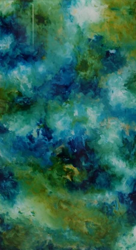 Blue and Green 20x36 set of 3