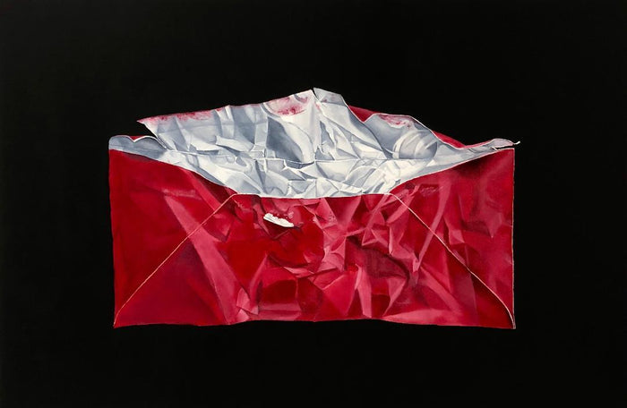 Red Envelope by Brian Broadway, 24 x 36 in