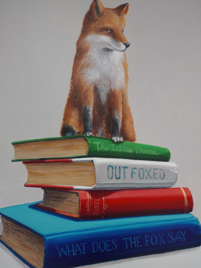 Outfoxed by Ginger Fox, 36x24 in.
