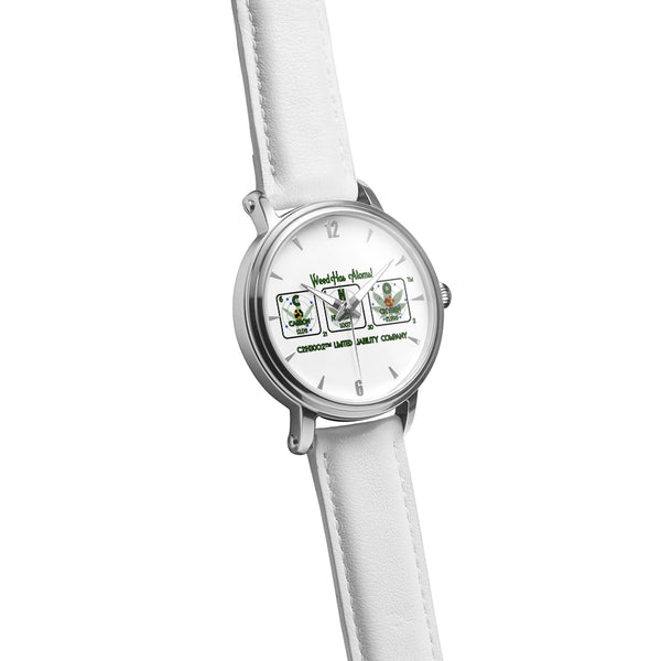 Weed Has Atoms! Water Resistant Watch with Silver Watch Face, 20 ATM - 20 BAR - 200 Meters