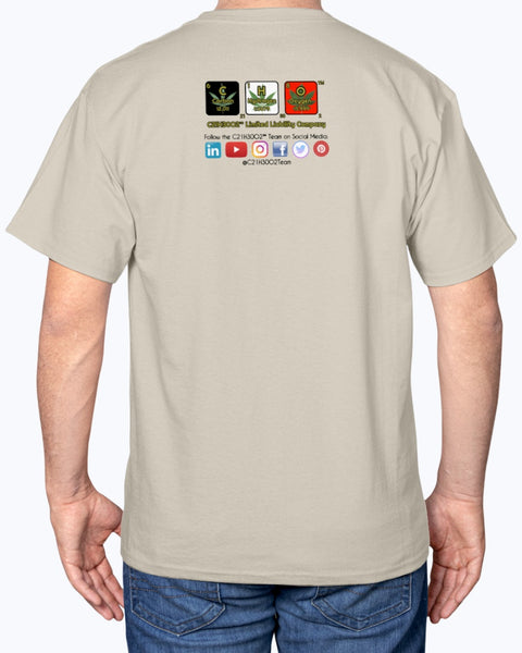 Logo #4 on Hanes Tagless T-Shirt, light colors