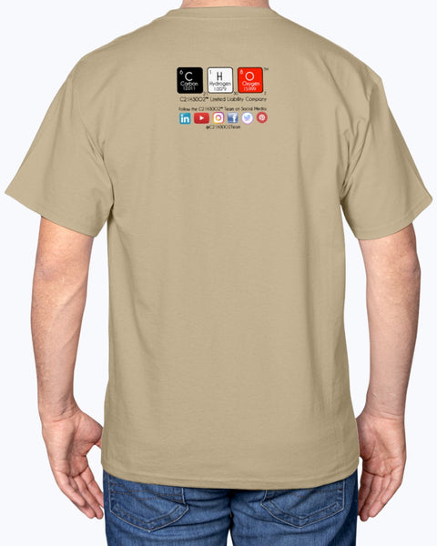 Logo #3 on Hanes Tagless T-Shirt, light colors