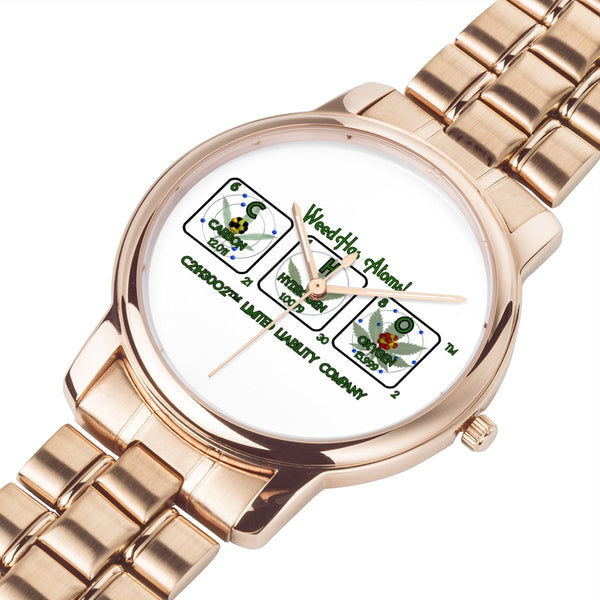Weed Has Atoms! Water Resistant Watches - 3 ATM
