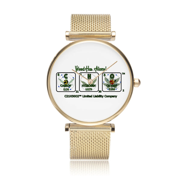 Weed Has Atoms! Water Resistant Watch - 3 ATM