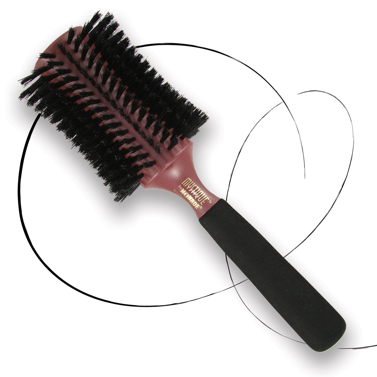 BRUSHOPOLIS-Monroe-hourglass-round-brush-Mystique-MP2545-M-1