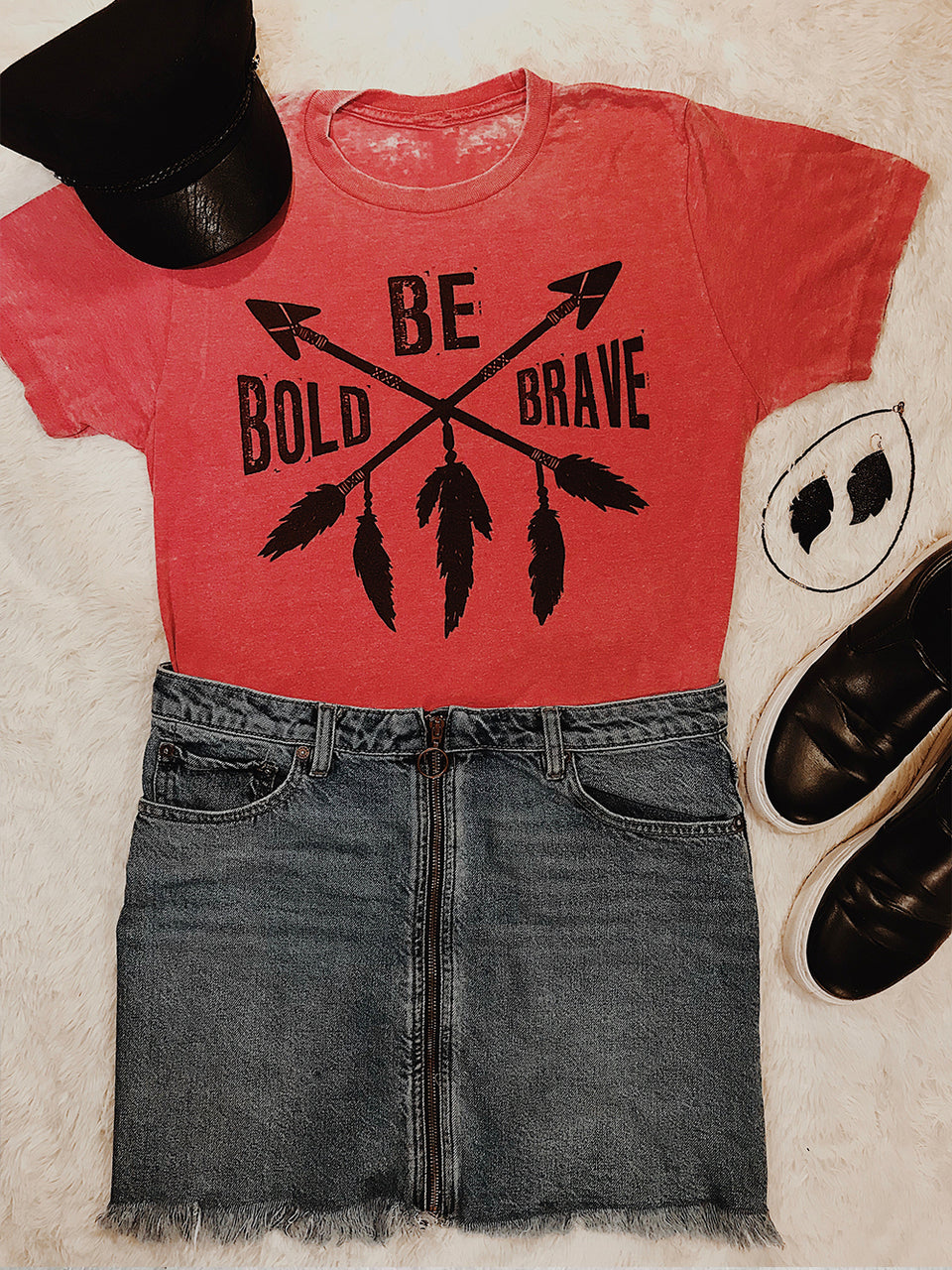 1028 Be Bold Be Brave Tee