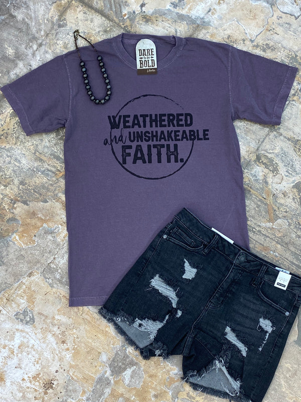 2047 Weathered and Unshakeable Faith Tee