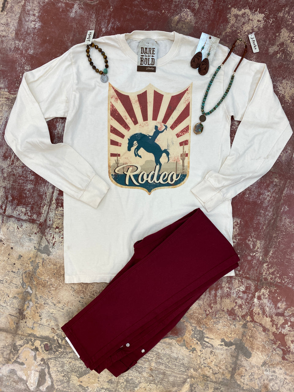 1985 Rodeo Tag Long Sleeve Tee