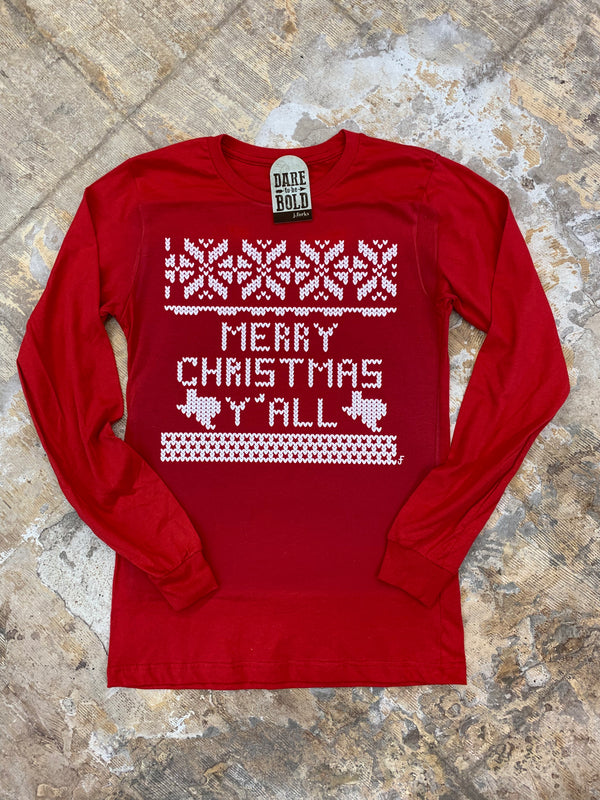 1451 Christmas Sweater Y'all Tee