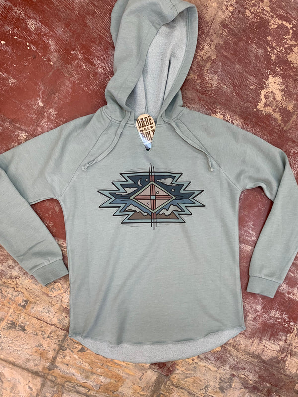 1582 Aztec Clouds Hooded Sweatshirt
