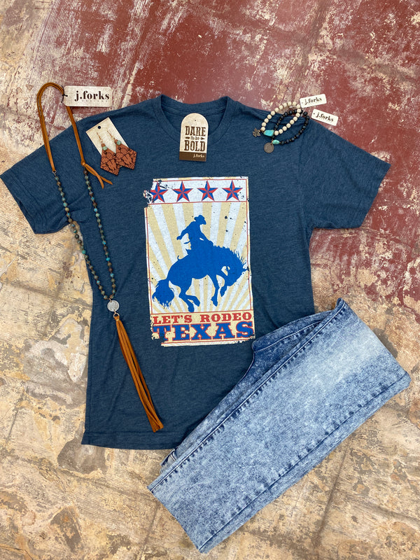 2138 Let's Rodeo Texas Tee