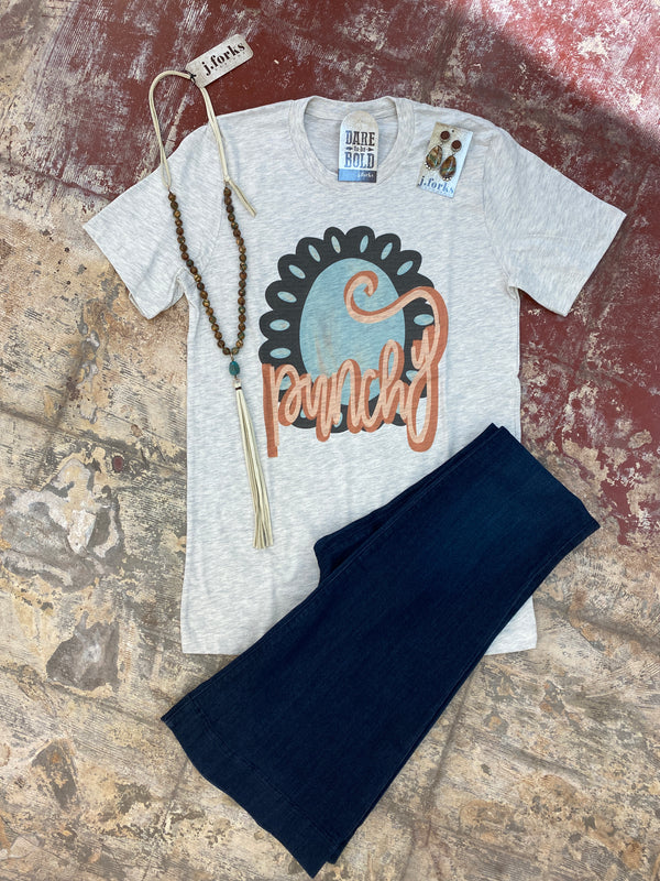 2172 Turquoise Punchy Tee