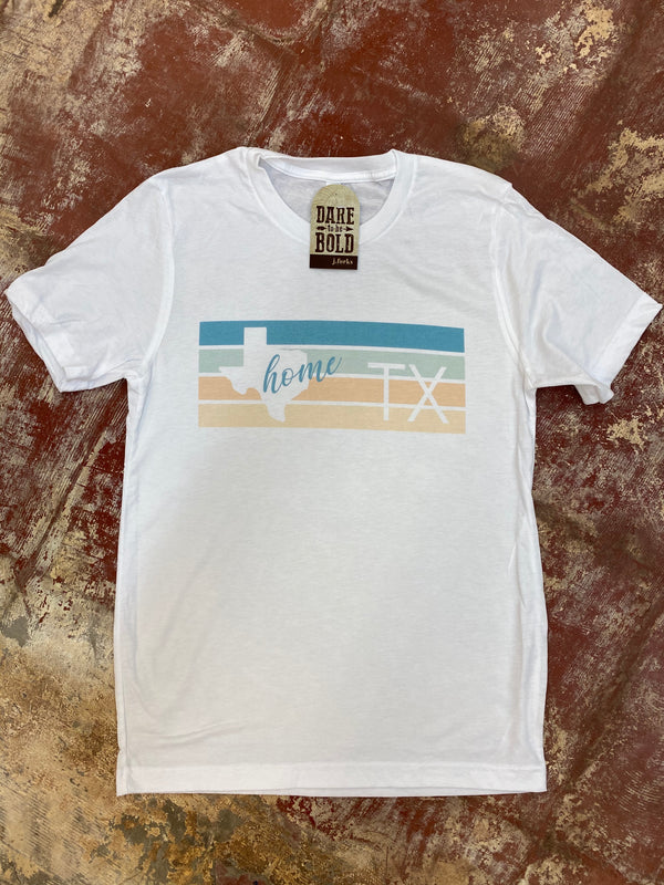1716 Teal Retro Texas Tee